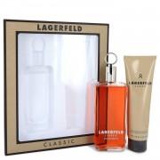 LAGERFELD by Karl Lagerfeld Gift Set -- 5 oz Eau De Toilette pray + 5 oz Shower Gel