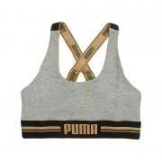 Boxershort Gold Logo Cross Back Bra Grijs
