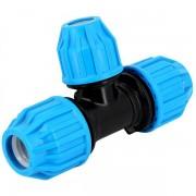 Raccord PE compression - Té 90° réduit PE Compression Ø63-50 - Générique