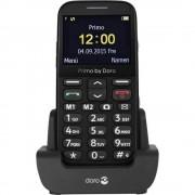 Primo by DORO 366 mobilni telefon za starije osobe, crne boje