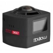 Action Cam 360 BILLOW, WIFI, c/ acessórios, Black - XS360PROB