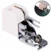 Meco Household Presser Foot Press Feet Side Cutter White Sewing Machine Parts Side Cutter Overlock Attachment