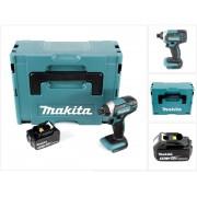 Makita DTD 152 T1J 18V Li-Ion Visseuse à chocs sans fil avec boîtier Makpac + 1x Batterie BL 1850 5,0 Ah Li-Ion - sans Chargeur