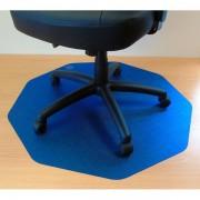 Tappeti protettivi in policarbonato Floortex Per pavimenti 96x97x0,17 cm blu-translucido 121001009RBL