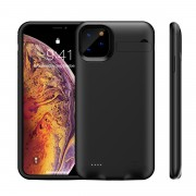 4200mAh Full Protection Battery Charging Case with Kickstand for iPhone 11 Pro 5.8 inch - Black