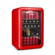 PopLife Frigorífico de bebidas Frigorífico 115 L 0-10°C Design retrô vermelho