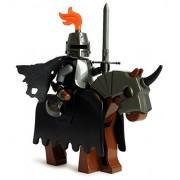 Lego Evil Death Knight (Dark Templar) - Halloween Castle Kingdoms Minifigure with Armored Horse