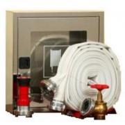 Cutie hidrant interior AURAS LT C52 cu usa cu sticla – inox – complet echipata