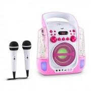 Kara Liquida Sistema de Karaoke CD USB MP3 Jacto de Água LED 2x Microfones Portátil