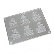 Fat Daddio's Polycarbonate Chocolate Mold 2Piece -Cakes-
