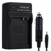 PULUZ 2-in-1 Digitale Camera batterij autolader voor Panasonic DMW-BLC12 accu