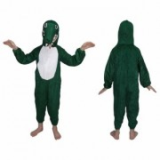 Kaku Fancy Dresses Crocodile Water Animal Costume -Green for Boys Girls