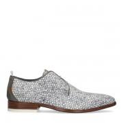 REHAB Greg Dots grijze veterschoenen