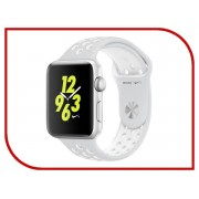 Nike Умные часы APPLE Watch Nike+ 42mm Silver Aluminium Case with Platinum-White Nike Sport Band MQ192RU/A