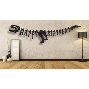 Meant2Tobe Dinosaur Happy Birthday Banner - Party Decoration Supplies Dinosaurs Banner-