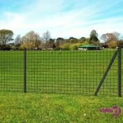 vidaXL Euro ograda 25 x 1,5 m čelična siva