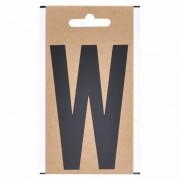 Merkloos Zwarte letter sticker W 10 cm