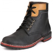 Knoos Men'S Synthetic Leather Long Boots