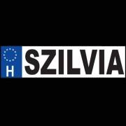 Szilvia - Név rendszámtábla