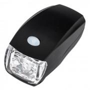 Carking 3-Mode poder 5LED luz de carretera del faro de la antorcha de la bicicleta - negro