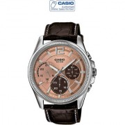 Casio Quartz Peach Round Men Watch MTP-E305L-5AVDF(A994)
