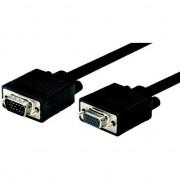 Cablu manhattan Filate użacz monitor SVGA HD15 M / F HD15 5m de ferita negru (317726)