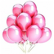 I Q Creations Solid Metallic Party Balloons - Pack of 50 (Pink) Balloon (Pink Pack of 50)