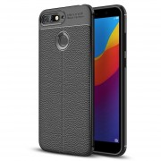 Para Huawei Honor 7a / Y6 (2018) Litchi Texture Soft TPU Protective Case (Black)
