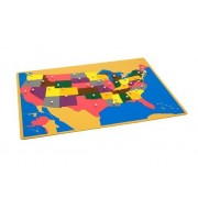 Montessori Usa Puzzle Map W/ Control Maps