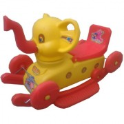 Oh Baby Multi color Rocking Plastic Elephant With Wheel SE-RT-06