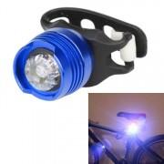 Aluminium fiets fietsen voor achterste staart helm rood wit LED flitslichten veiligheidswaarschuwing lamp fietsen voorzichtigheid licht waterdicht (wit licht blauw geval)