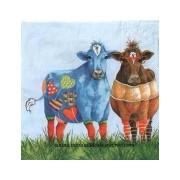 Paquete servilletas Vacas de colores