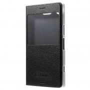 Capa com Janela na Aba para Sony Xperia XZ1 Compact - Preto