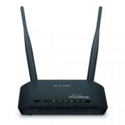 Рутер D-Link DIR-605L, 300Mbps, 2.4GHz(300 Mbps), Wireless N, 4x LAN 100, 1x WAN 100, 2x външни антени