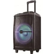 Boxa Portabila Akai ABTS-H12L, 40W, microfon wireless, Bluetooth, radio FM, karaoke, USB, lumini disco (Negru)