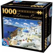 Puzzle D-Toys - Discover Europe - Santorini, 1.000 piese (Dtoys-65995-DE06)