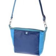 dudu Women Casual Blue Genuine Leather Shoulder Bag