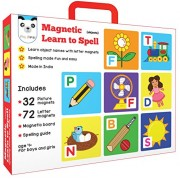 Magnetic Learn to Spell : Objects with 32 Picture Magnets, 72 Letter Magnets, Magnetic Board and Spelling Guide