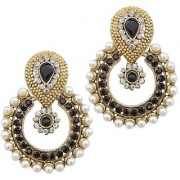 Women Kundan Blue AD Ramleela Earrings Wedding Jewellry For Hot GIrls And Beauty ladies
