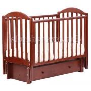 Кубаньлесстрой Детская кроватка Кубаньлесстрой АБ 17.3 Лилия маятник продольный с инкрустацией стразами Д002