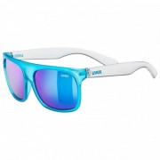 Uvex Sportstyle 511 Mirror S3 Occhiali da sole blu/bianco/turchese/grigio