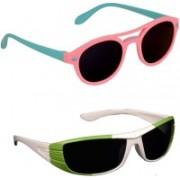 Yellow Mango Round, Sports Sunglasses(For Boys & Girls)