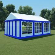 vidaXL Pavilion de grădină, albastru și alb, 4 x 6 m, PVC