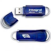 Stick USB 8GB Courier 3.0 USB Albastru INTEGRAL