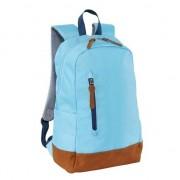 Merkloos Schooltas/boekentas lichtblauw 45 cm