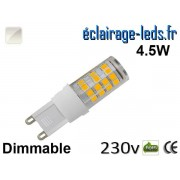 Ampoule LED G9 dimmable 4.5w smd 2835 blanc naturel 230v ref g9-03