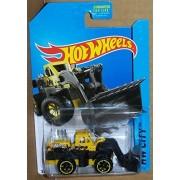 2014 Hot Wheels Hw City Wheel Loader - Yellow/Black