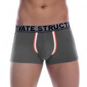 Private Structure Classic Trunk Boxer Brief Underwear Dark Melange 99-MU-1717