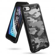 Husa Ringke Fusion X Design durable PC Case with TPU Bumper for iPhone SE 2020 / iPhone 8 / iPhone 7 Camo Black