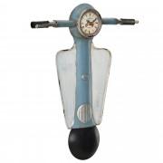 [en.casa]® Стенен часовник Мотор Веспа - цветен - с аналогови стрелки - 55 x 6 x 66 см.